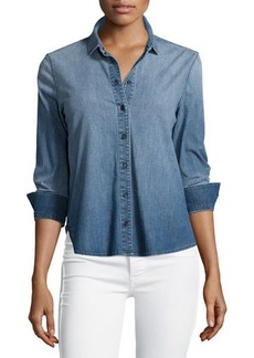 J Brand Jeans Azni Button-Front Chambray Shirt