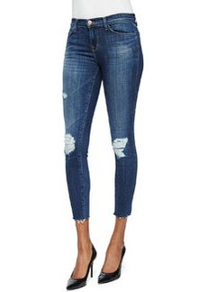 J Brand Jeans Cropped Mid-Rise Skinny-Fit Jeans