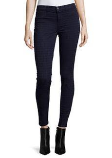 J Brand Jeans Diamond-Jacquard Super-Skinny Ponte Pants, Celestine