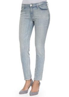 J Brand Jeans Ellis Cropped Faded Denim Jeans, Blue