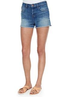 J Brand Jeans Gracie High-Rise Cuffed Shorts, Jagger