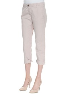 J Brand Jeans Inez Low-Rise Cropped Chinos