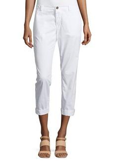 J Brand Jeans Inez Slim-Fit Cropped Chino Pants