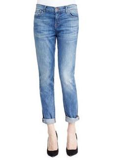 J Brand Jeans Jake Slim Boy Cut Cherish Faded Distressed Cuffed Jeans