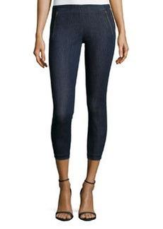 J Brand Jeans Katerina Mid-Rise Denim Capris, Pure