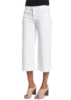 J Brand Jeans Liza Mid-Rise Cropped Culottes