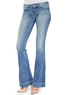 J Brand Jeans Love Story Faded Distressed Flare Jeans