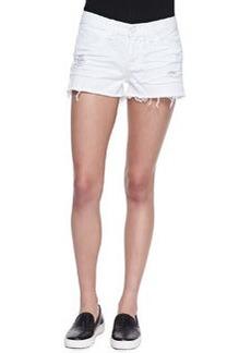 J Brand Jeans Low Rise Cutoff Denim Shorts, Vixen White