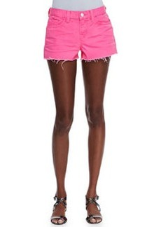 J Brand Jeans Low-Rise Cutoff Shorts, Signal Pink