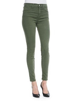 J Brand Jeans Maria High-Rise Lux Sateen Jeans, Hood Green