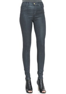 J Brand Jeans Maria Varnished Steel High-Rise Jeans