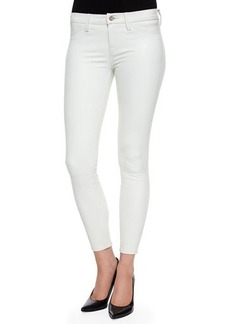 J Brand Jeans Marie Cropped Leather Skinny Pants