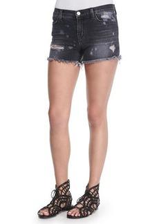 J Brand Jeans Mia Vagabond Distressed Denim Shorts  Mia Vagabond Distressed Denim Shorts