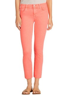 J Brand Jeans Mid-Rise Denim Ankle Jeans, Pink