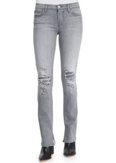 J Brand Jeans Mid-Rise Rail Distressed Denim Jeans