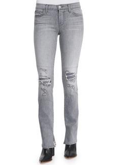 J Brand Jeans Mid-Rise Rail Distressed Denim Jeans