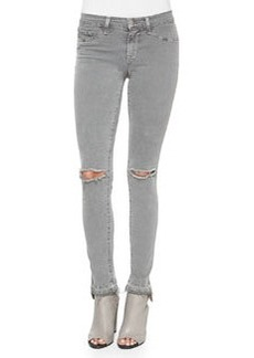 J Brand Jeans Mid-Rise Skinny Jeans, Silver Fox