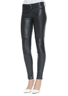 J Brand Jeans Nicola Zipper-Cuff Leather Moto Pants