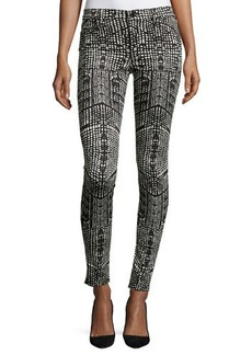 J Brand Jeans Printed Mid-Rise Skinny Jeans