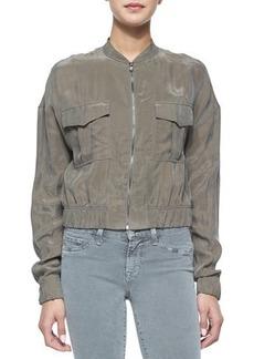 J Brand Jeans Santa Fe Cropped Bomber Jacket