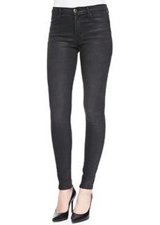 J Brand Jeans Super Skinny Mid-Rise Jeans, Black Diamond