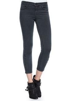 J Brand Jeans Suvi Skinny Button-Cuff Utility Pants, Chrome