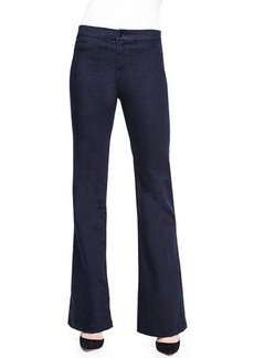 J Brand Jeans Tailored High-Rise Flared Denim Trouser  Tailored High-Rise Flared Denim Trouser
