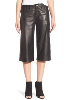 J Brand 'Judy' Leather Culottes