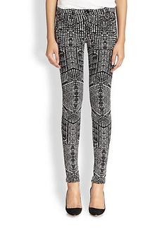 J Brand Kaleidoscope-Print Skinny Jeans