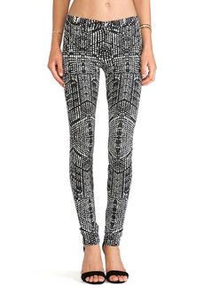 J Brand Kaleidoscope Skinny Pant in Black