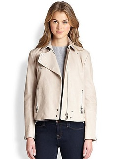 J Brand Lais Leather Motorcycle Jacket