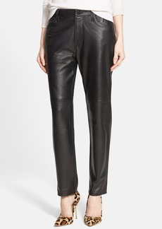 J Brand Lambskin Leather Boyfriend Pants