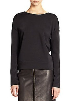 J Brand Landon Deep V-Back Neoprene Sweatshirt