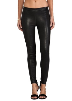 J Brand Leather Pull Up Legging