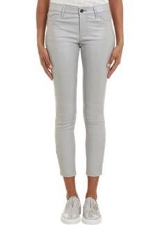 J Brand Leather Skinny Crop Jeans