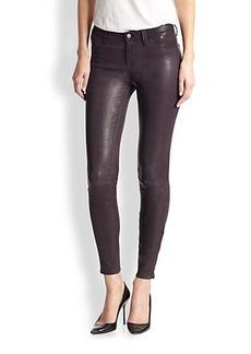 J Brand Leather Skinny Jeans