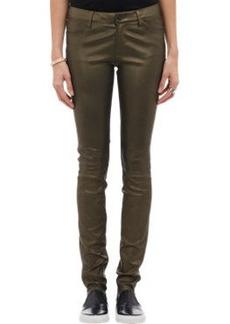 J Brand Leather Stacked Super Skinny Leggings