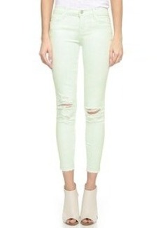 J Brand Low Rise Cropped Skinny Jeans