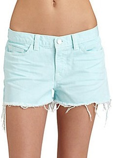 J Brand Low-Rise Cut-Off Shorts