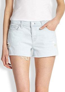 J Brand Low-Rise Cutoff  Denim Shorts