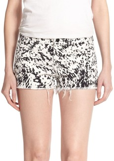 J Brand Low-Rise Printed Cut-Off Shorts