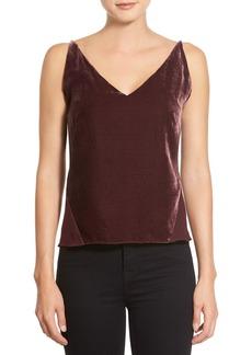 J Brand 'Lucy' Velvet Front Camisole
