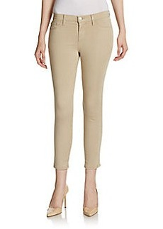 J Brand Luxe Cotton Sateen Capris