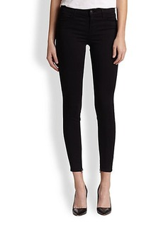 J Brand Luxe Sateen Mid-Rise Cropped Jeans