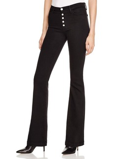 J Brand Maria Flared Jeans in Seriously Black