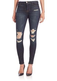 J Brand Maria High-Rise Distressed Skinny Jeans