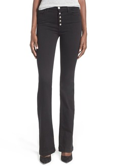 J Brand 'Maria' High Rise Flare Jeans (Seriously Black)