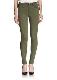 J Brand Maria High-Rise Luxe Sateen Skinny Jeans