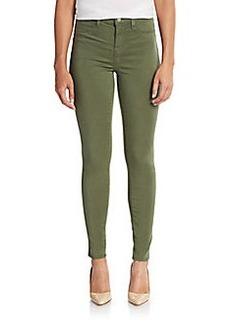 J Brand Maria High Rise Sateen Skinny Jeans