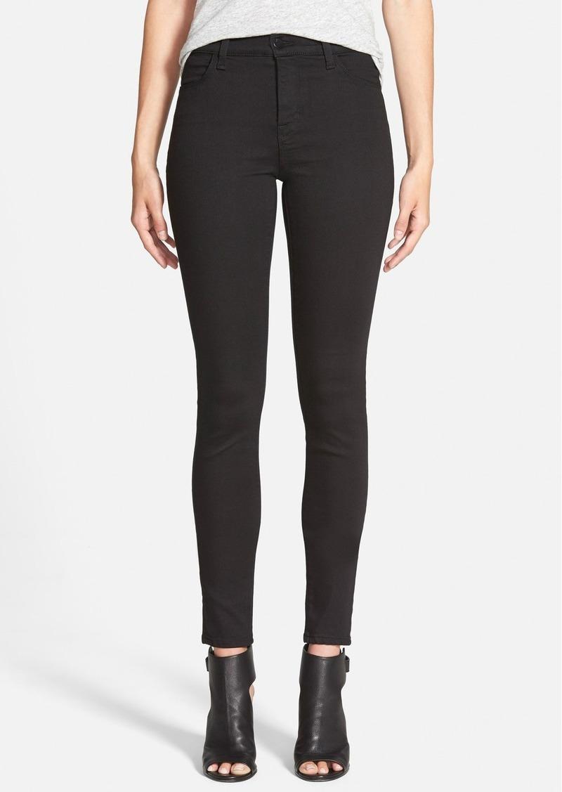 j brand j brand 39 maria 39 high rise skinny jeans seriously black denim shop it to me. Black Bedroom Furniture Sets. Home Design Ideas